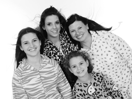 Black and white onsie Family Group Photographs and Portraits